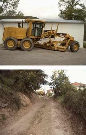 Mejoras en las pistas de Castrelo de Cima