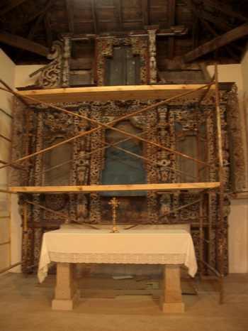 Comienzan a desmontar los retablos para su restauración